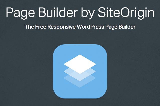 Page Builder Plugin SiteOrigin