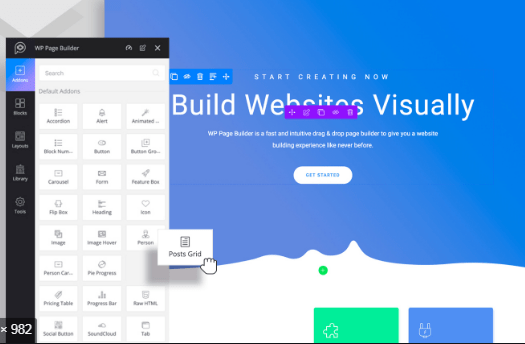 WP Page Builder - элементы страницы