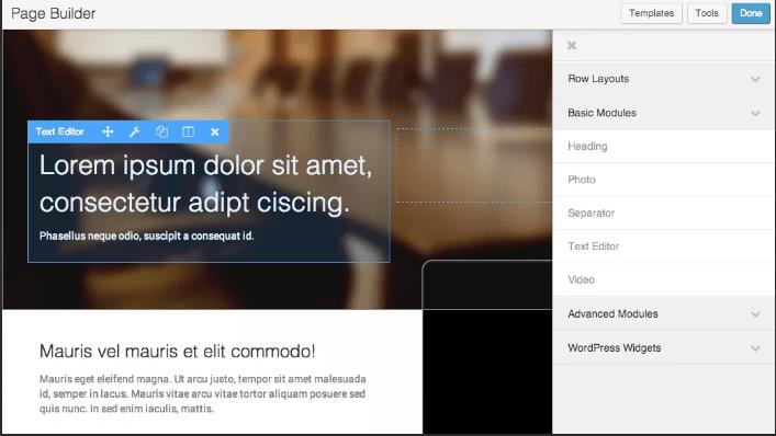 Конструктор страниц для WordPress